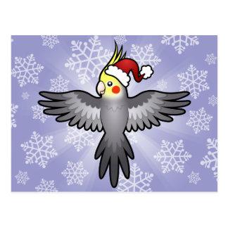 Carte Postale Cockatiel de Noël