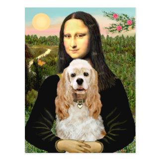 Carte Postale Cocker (cuir épais) - Mona Lisa