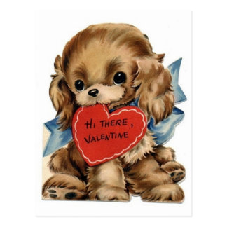 Carte Postale Cocker vintage de Valentine