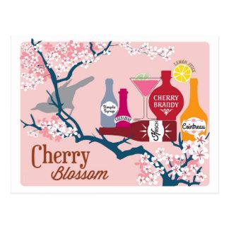 Carte Postale Cocktail de fleurs de cerisier