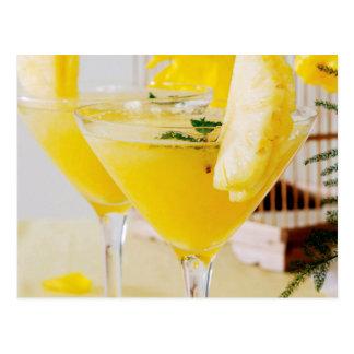 Carte Postale Cocktail de Fresca d'ananas et de gingembre