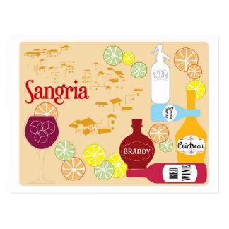 Carte Postale Cocktail de vin rouge de sangria