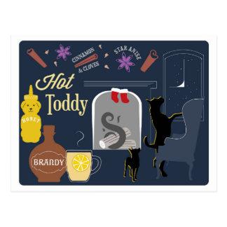Carte Postale Cocktail d'hiver de grog chaud