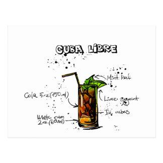 Carte Postale Cocktail du Cuba Libre
