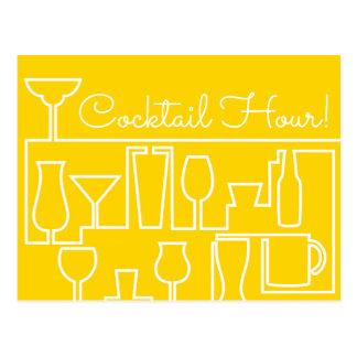 Carte Postale Cocktail jaune