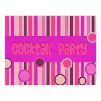 Carte Postale cocktail pourpre rose
