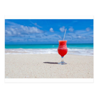 Carte Postale Cocktail sur le sable