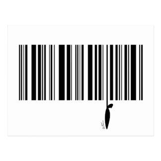 Carte Postale Code barres