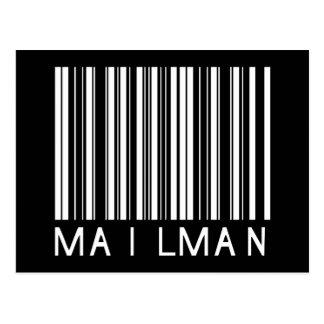 Carte Postale Code barres de facteur