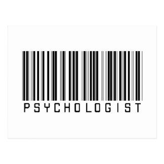 Carte Postale Code barres de psychologue