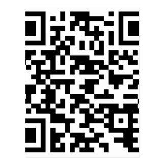 Carte Postale Code de Bitcoin QR d'échantillon