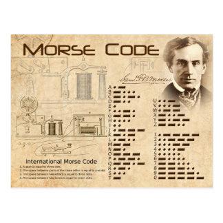 Carte Postale Code Morse