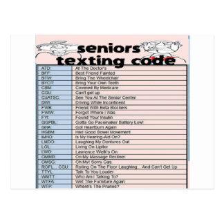 Carte Postale Code supérieur de service de mini-messages