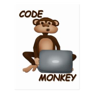 Carte Postale Codez le singe