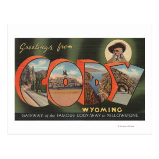 Carte Postale Cody, lettre ScenesCody, WY de WyomingLarge