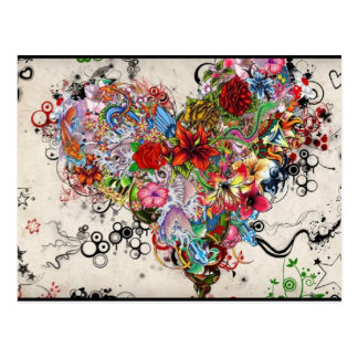 Carte Postale Coeur artistique