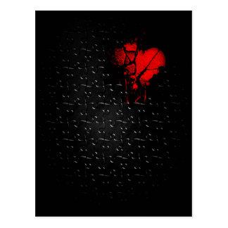 Carte Postale Coeur dans le puzzle perdu