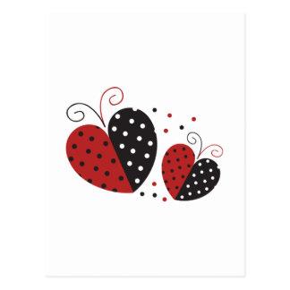 Carte Postale Coeur de coccinelle mignon