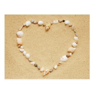 Carte Postale Coeur de coquillage