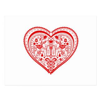 Carte Postale Coeur de Dala