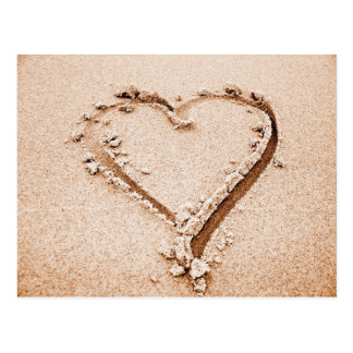 Carte Postale Coeur de la nature | en sable