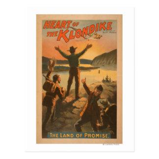 Carte Postale Coeur de l'exploitation de promesse de Klondike