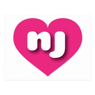 Carte Postale Coeur de roses indien de New Jersey - mini amour