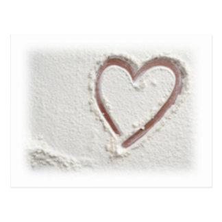 Carte Postale Coeur de sable de plage
