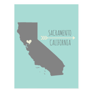 Carte Postale Coeur de Sacramento, la Californie