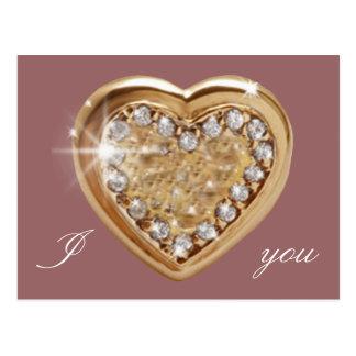 Carte Postale Coeur d'or