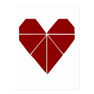 Carte Postale Coeur d'origami
