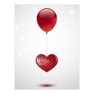 Carte Postale Coeur et ballon