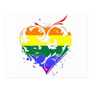 Carte Postale coeur gai