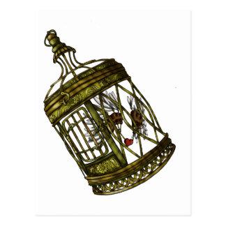 Carte Postale Coeur mis en cage