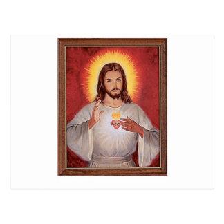 Carte Postale Coeur sacré de Jésus