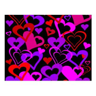 Carte Postale Coeurs abstraits