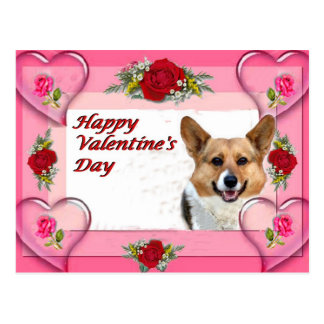 Carte Postale Coeurs et roses de Valentine OC Cardsize