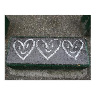 Carte Postale Coeurs heureux