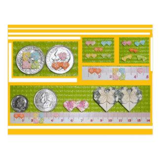 Carte Postale Coeurs miniatures et coeurs jumeaux