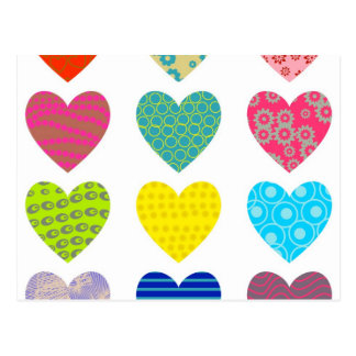 Carte Postale Coeurs modelés