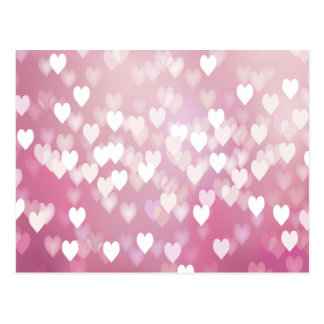 Carte Postale Coeurs roses mignons