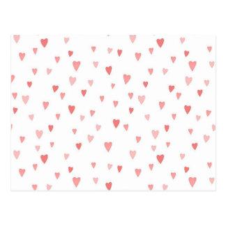 Carte Postale Coeurs roses minuscules