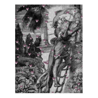 Carte Postale Coeurs vintages de Romeo et de Juliet Valentine
