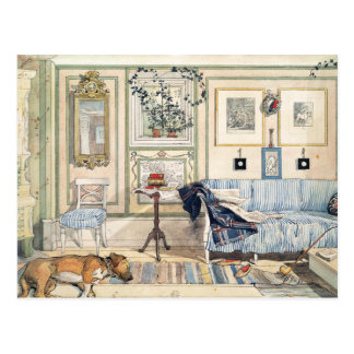 Carte Postale Coin confortable par Carl Larsson