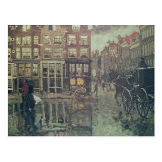 Carte Postale Coin de carré de Leidsche, Amsterdam