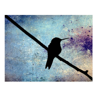 Carte Postale Colibri grunge