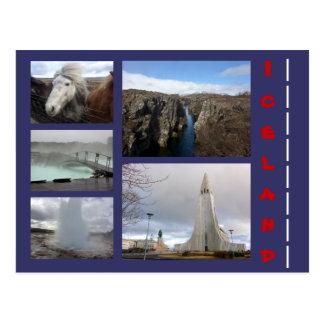 Carte Postale Collage 1 de l'Islande