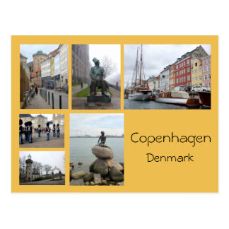 Carte Postale Collage 2 de Copenhague