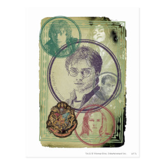Carte Postale Collage 9 de Harry Potter