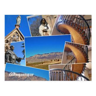 Carte Postale Collage d'Albuquerque Santa Fe, Nouveau Mexique
